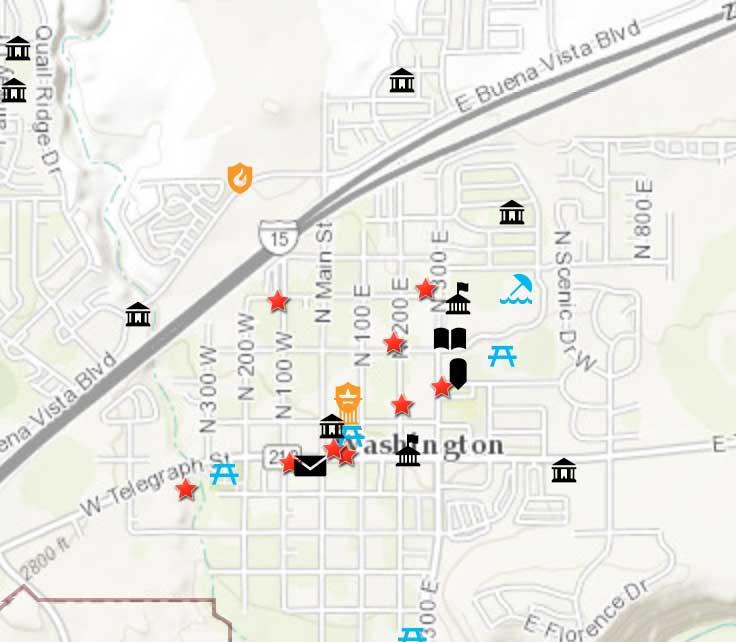 Washington City Map General Information   Washington City Utah Washington City Map