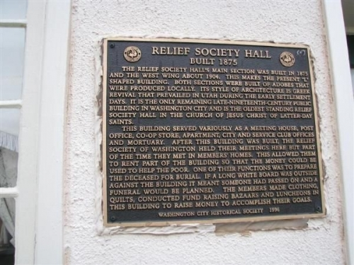 Relief Society Building credit: Manwaring